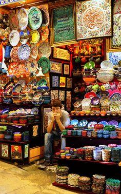 Grand Bazaar, Istanbul, via Flickr. Picture by rkrumins