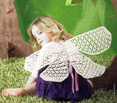 How To Knit: Crocheted Wings Fairy costume for New Year