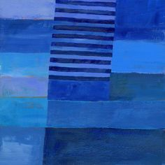 Abstract Art Art Print featuring the painting Blue Stripes 7 by Jane Davies Collages, Collage Art, Heart Collage, Blue Abstract, Abstract Landscape, Jane Davies, Picasso Paintings, Art Paintings, Painting Art