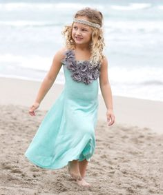 Mia Belle Baby….Another great find on #zulily! Aqua & Heather Dress - Toddler & Girls #zulilyfinds