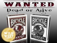 Vincent Tran is raising funds for Wanted Dead or Alive Card Deck, Deck Of Cards, Bicycle Playing Cards, Raise Funds, Wild West, Cigar, Pipes, Inspired, Drinks