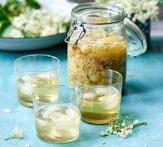 Soak up the flavours of summer with our easy elderflower drinks. From fresh cordials to creative cocktails, make the most of this fabulous flower. Gooseberry Recipes, Elderflower Drink, Vodka Potato, Vodka Mixes, Garlic Infused Olive Oil, Pickle Vodka, Bbc Good Food Recipes, Mixed Vegetables