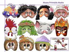 Unique Moana Printable Masks Collection Moana party