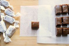 homemade salted chai caramels