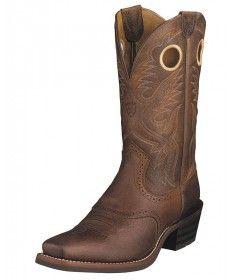 Ariat Men's Brown Heritage Roughstock Western Boot