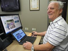 David Zigler shows a website and GoFundMe account that he and his wife, Sandy, have set up to raise $25,000 toward a project to build a library for an orphage in Kilifi, Kenya.  (MICHAEL-ALLAN MARION/The Expositor  )