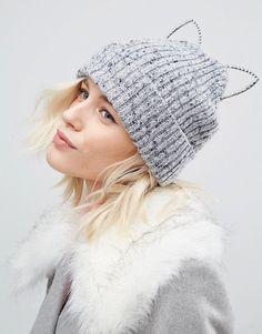 River Island   River Island Kitten Ears Beanie Hat