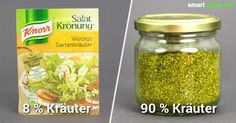 Fertige Salat-Kräutermischungen aus dem Supermarkt enthalten meist viele Zusatz… Finished salad-herb mixtures from the supermarket usually contain many additives and little herbs. Create your own spice mix from just a few ingredients yourself! Good Food, Yummy Food, Tasty, Cooking Recipes, Healthy Recipes, Free Recipes, Spice Mixes, Food Blogs, Diy Food