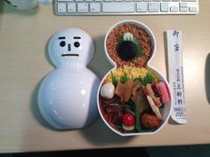 A lunch box at a train station; Niigata Ekiben 新潟の駅弁。かわいい上にちゃんとウマい。