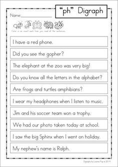 sh poem digraph - Google Search