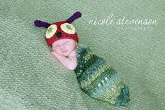 Little Caterpillar crochet Baby Cocoon