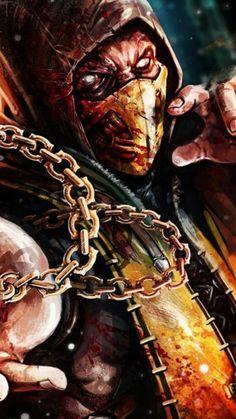 Scorpion Mortal Kombat Fight, Mortal Kombat X Scorpion, Sub Zero Mortal Kombat, Mortal Kombat Games, Mortal Kombat Art, Gas Mask Art, Masks Art, Best Gaming Wallpapers, Joker Wallpapers