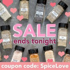 "Last call to take advantage of our sale! Use code ""SpiceLove"" for 10% off your order! Our best deal is the One Of Everything pack already $20 off and then pile this coupon on top for HUGE savings. It's like getting a pack for free in your order!  Our spices are: USDA Organic Non-GMO Non-Irradiated Whole30 Approved Kosher Certified Gluten-Free Bottled in a nut-free facility  Here are the awesome packs we offer:  SIGNATURE BLENDS: Adobo Seasoning Meat & Potatoes Seasoning and Barbecue Rub…"