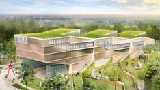 Weiss/Manfredi Unveils Plans For Kent Stateu0027s New Green Roofed Design Loft