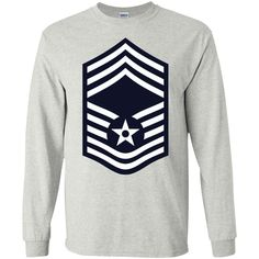 Air Force Chief Master Sergeant Rank LS Ultra Cotton Tshirt