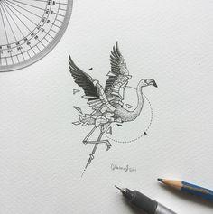 Geometric Beast | Flamingo