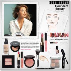 """""""Bobbi Brown & Kate Upton"""" by pmcdl on Polyvore Night Makeup, Kiss Makeup, Beauty Makeup, Eye Makeup, Hair Makeup, Brown Makeup, Tips And Tricks, Makeup Tricks, Makeup Ideas"""