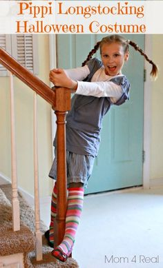 Pippi Longstocking Halloween Costume (Free) - Mom 4 Real