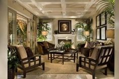 British Colonial Living Room by ajct