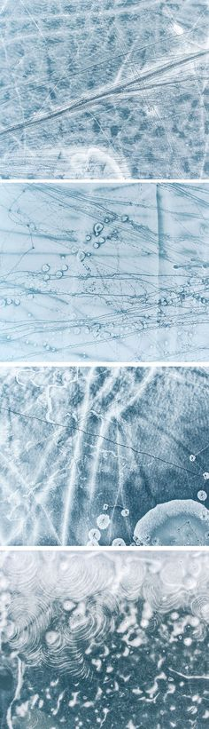 Aerial Photography Captures the Moonlike Beauty of Footprints Across Lithuania's Frozen Lakes