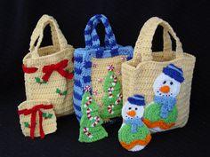 Christmas Gift Bags Set 1 Crochet Pattern-PA998