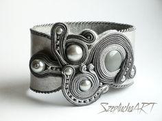 Szeptucha ART, Anita Balińska, SzeptuchaART, sutasz, soutache, biżuteria soutache, bracelet,