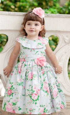 Vestidinho Infantil Azul Floral