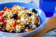 The great thing about this salad is that it is extremely simple and quick to prepare! It can easily be made from remaining quinoa that you've already cooked! So, if you have other recipes with quinoa … Quinoa Salat, Feta Salat, Greek Recipes, Raw Food Recipes, Healthy Recipes, Vegetarian Cooking, Vegetarian Recipes, Clean Diet, Food Is Fuel