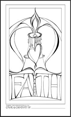 Printable Faith Coloring Page