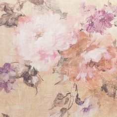 Wesley-Barrell Painted Floral Coral fabric