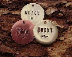 Custom Dog Tag, Handmade dog tag, pet id tag , dog collar tag Dog Collar Tags, Pet Collars, Metal Stamping Kit, Dog Tags Pet, Custom Dog Tags, Opening An Etsy Shop, Your Pet, Etsy Seller, Small Shops