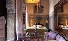 Romantic and Sexy Morrocan Bedroom.
