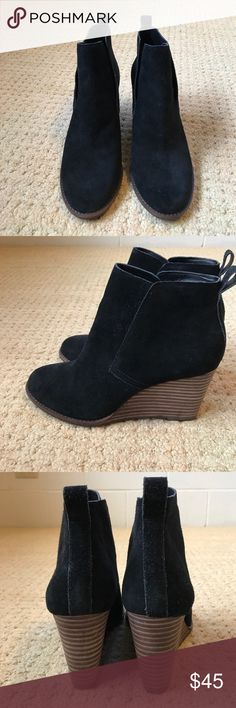Lucky brand black suede wedge boots size 8.5.  NWT Lucky brand black suede wedge boots size 8.5.  NWT Lucky Brand Shoes Ankle Boots & Booties