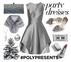 """#PolyPresents: Party Dresses"" by nadiahirbah288 on Polyvore featuring Halston Heritage, Jimmy Choo, Beekman 1802 and Burberry"