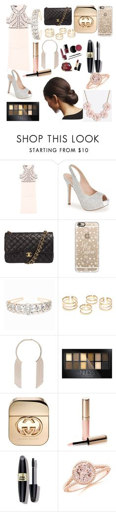 """""""😚😚"""" by esmi-riggio on Polyvore featuring Bebe, Lauren Lorraine, Chanel, Casetify, Maybelline, Gucci, By Terry, Max Factor and J.Crew"""