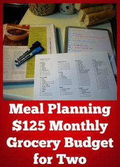 How to slash your grocery budget with meal planning!