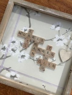 Scrabble Tile Box Frame by MadeWithLoveNiaCeri on Etsy