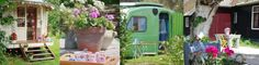 I believe this place is in Holland.? Adorable vintage campers for rent.  All of the campers have a different theme. If only I could understand the language...