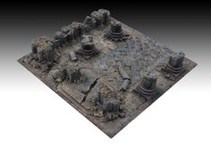 project for kickstarter platform: dedicated to the creation of bases 30x30 cm. for 3D tabletops for wargames and skirmish in 28-35 mm. - Master - 43  http://manorhouseworkshop.com/2015/10/29/update-6-3d-bases-modular-terrain-skirmish-wargame/