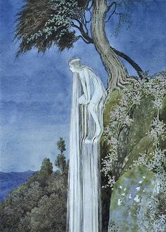 "Ida Rentoul Outhwaite, ""The Waterfall Fairy""  I don't understand how anyone could not love that hair."