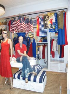 225daf41bac Our East Hampton Luxury store proves that nautical stripes and  sophisticated beachwear are a must this Fourth of July weekend