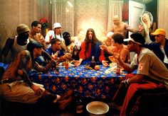 « Jesus is my Homeboy », David LaChapelle, 2003  (réinterprétation de La Cène de Léonard De Vinci)