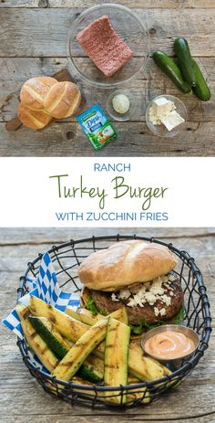 The key to making these delicious and juicy Ranch Turkey Burgers with Zucchini Fries is versatile ingredients. Sprinkle Hidden Valley Ranch for extra flavor and shredded zucchini to lock in moisture. #FoodFunSun