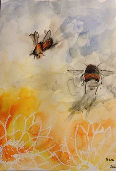 Bees coming and going