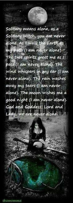 Solitary witch mantra for walking the earth path