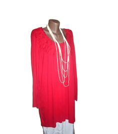 Red Cotton Tunic Plus Size Clothes