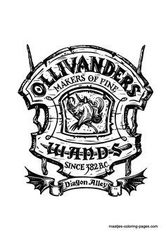 door decorations Diagon Alley - Ollivander's Makers of Fine Wands