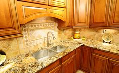 granite kitchen backsplash   Travertine Backsplash For Quality Kitchen Designs