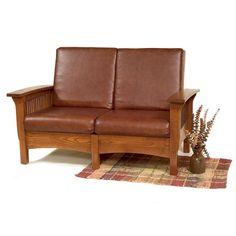 Mission Love Seat  sc 1 st  Pinterest & Amish Mission Recliner Loveseat Sofa ($2394) via Polyvore ... islam-shia.org
