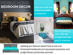 Thinking of updating? Mobile Home Living, Home And Living, Living Room Color Schemes, Living Room Designs, Homemade Headboards, Bedroom Decor Lights, Remodeling Mobile Homes, Diy Kitchen Decor, Living Room On A Budget